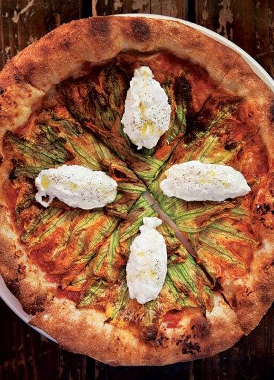 Squash Blossom Pizza