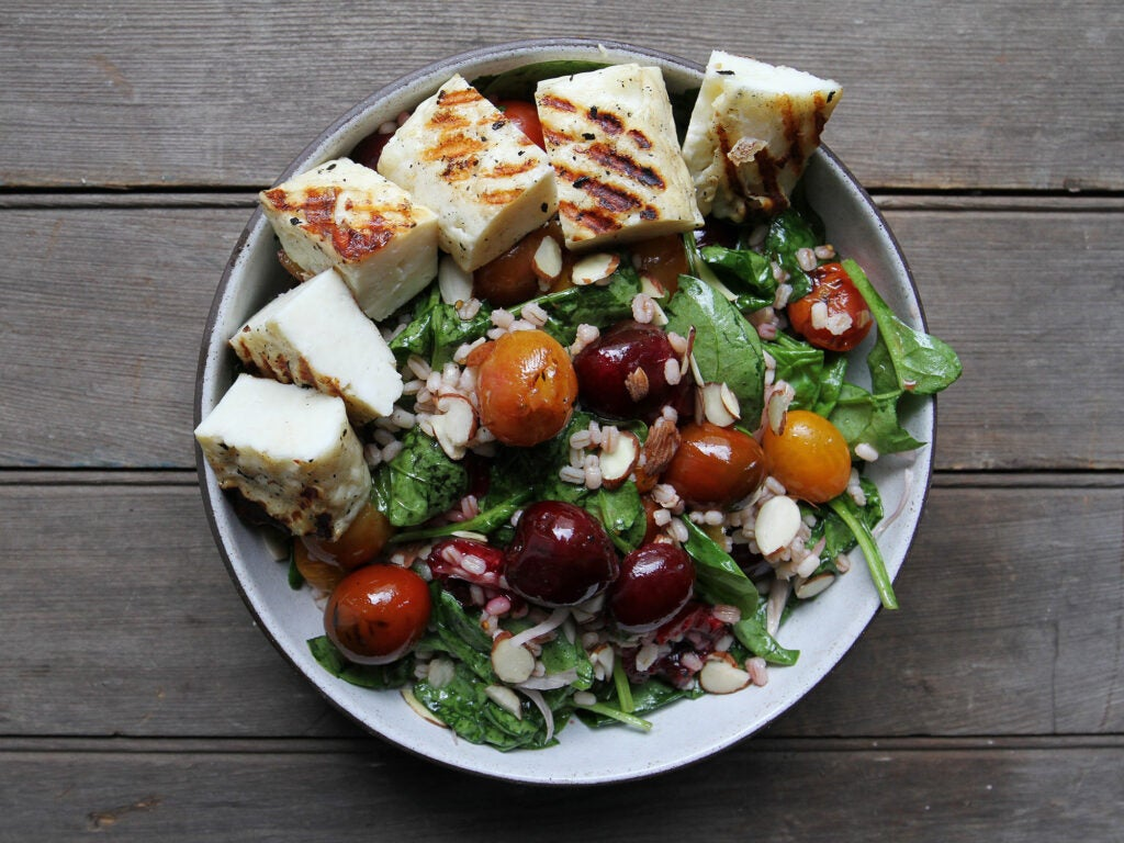 Halloumi and Cherry Grilled Salad