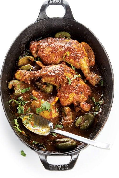 Chicken, Olive, and Lemon Tagine (Djaj Mqualli)