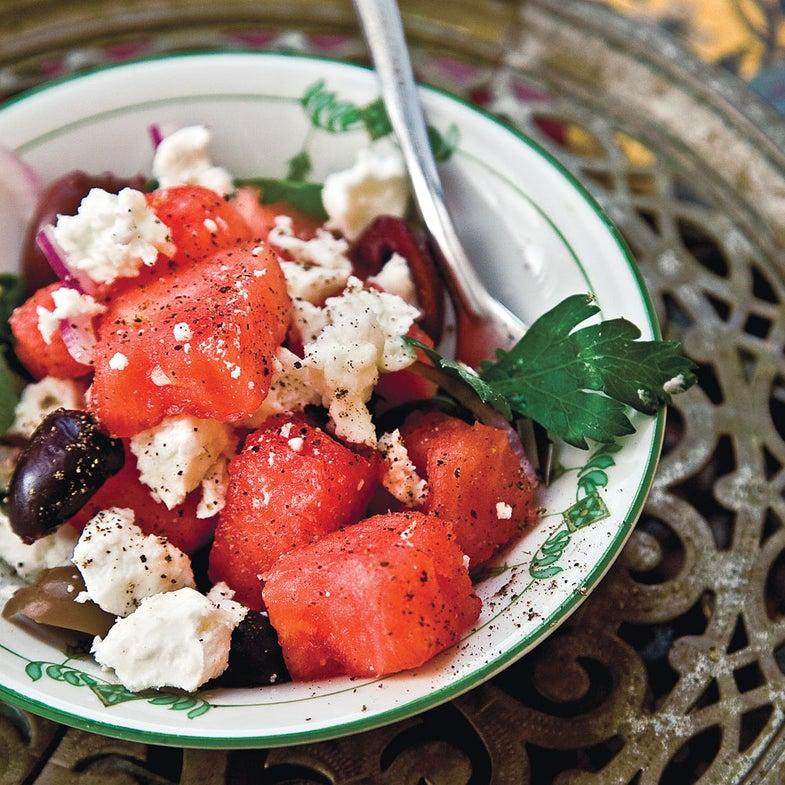 Watermelon, Feta, and Olive Salad