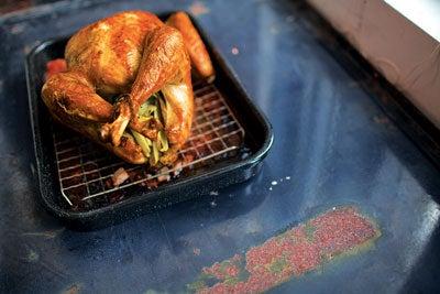 Sage-Brined Roast Turkey with Oyster Dressing