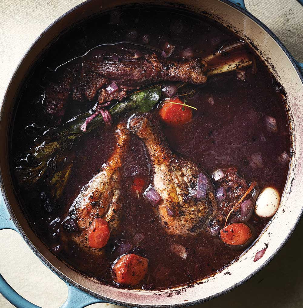 Wine-Braised Duck Legs with Agen Prunes (Civet de Canard Aux Pruneaux D'Agen)
