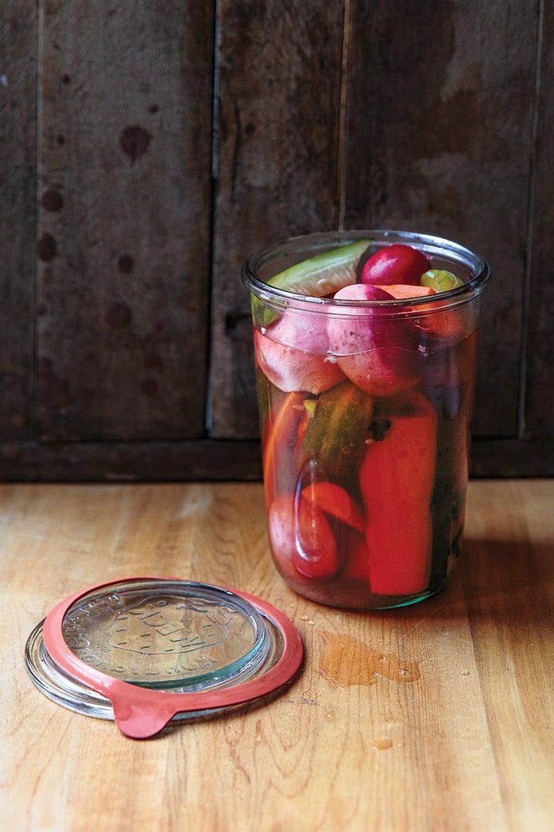 Vegetables Pickled in Kelp Vinegar