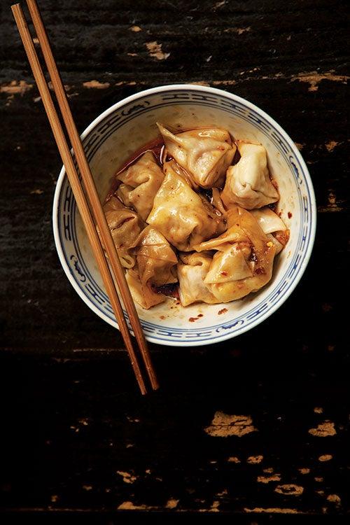 Sichuan Pork Wontons (Chao Shou)