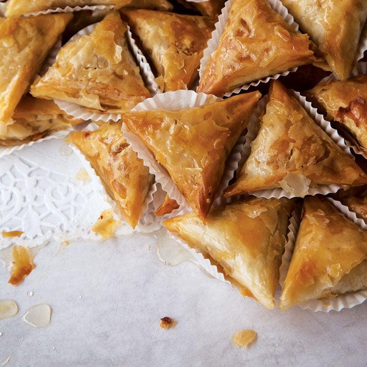 Fried Almond Pastries (Samsa Feuille de Brick)