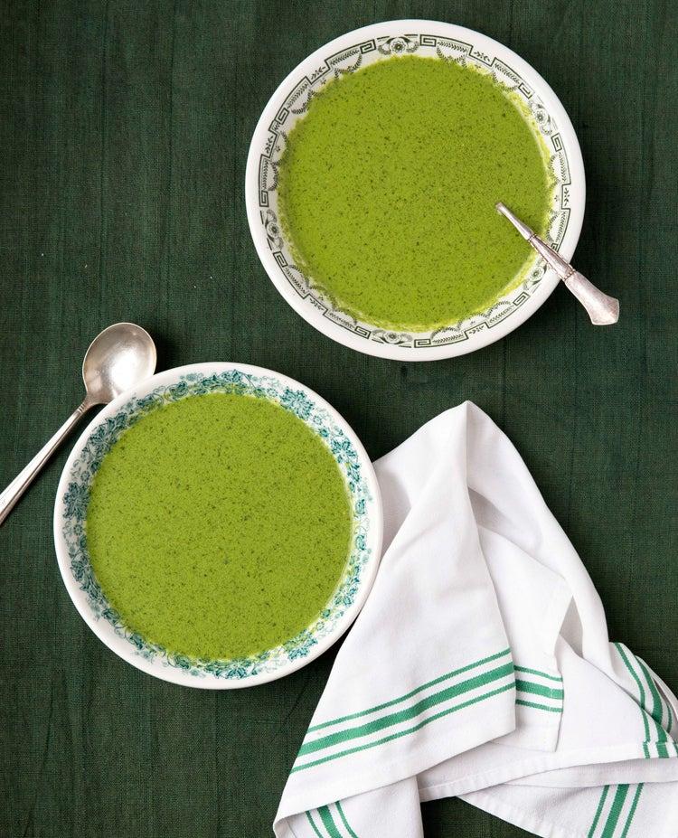Cream of Chervil Soup (Kerbelsuppe)