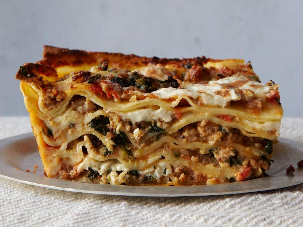 Abruzzo, Recipe, Veal & Spinach Lasagna