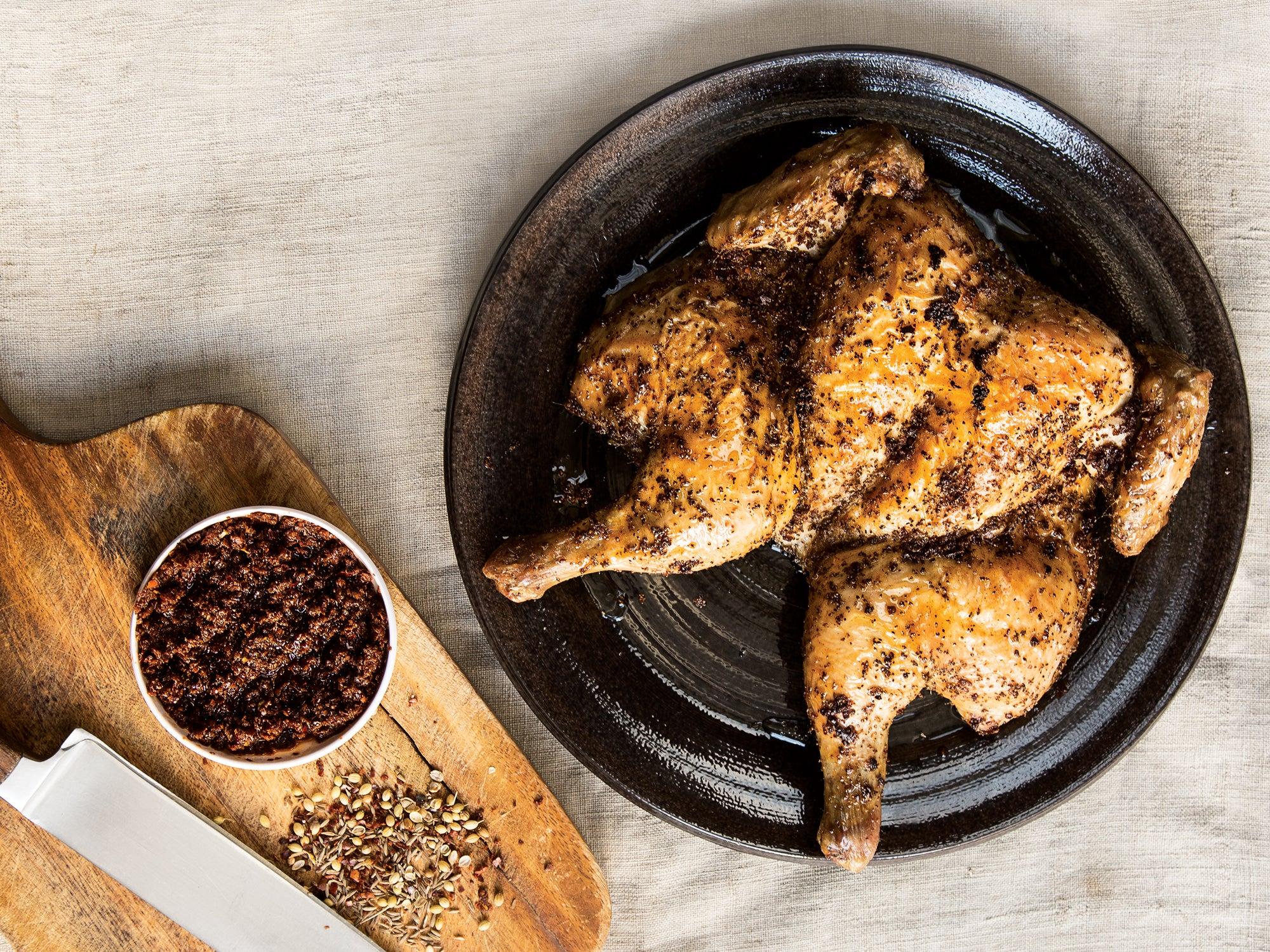 Roasted Chicken with Harissa
