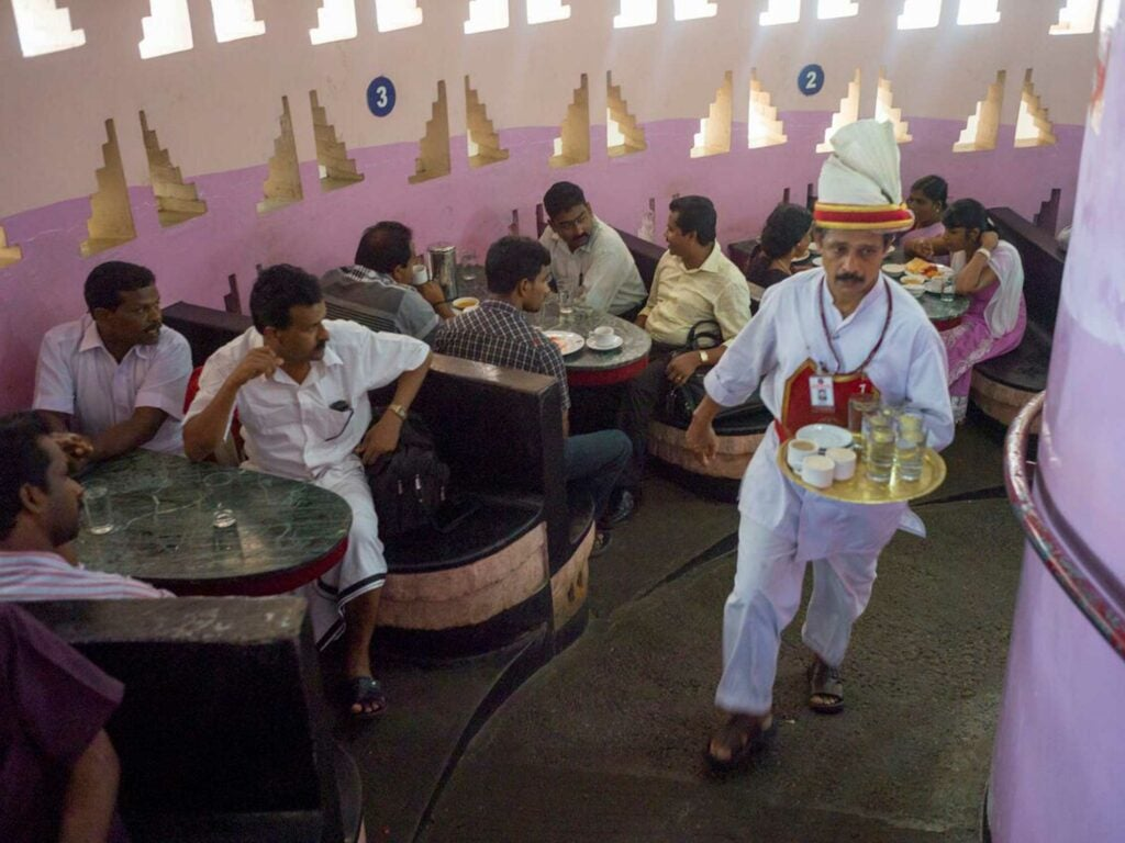 Inside the Indian Coffee House