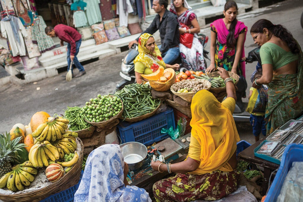 Market in Rajasthan, India