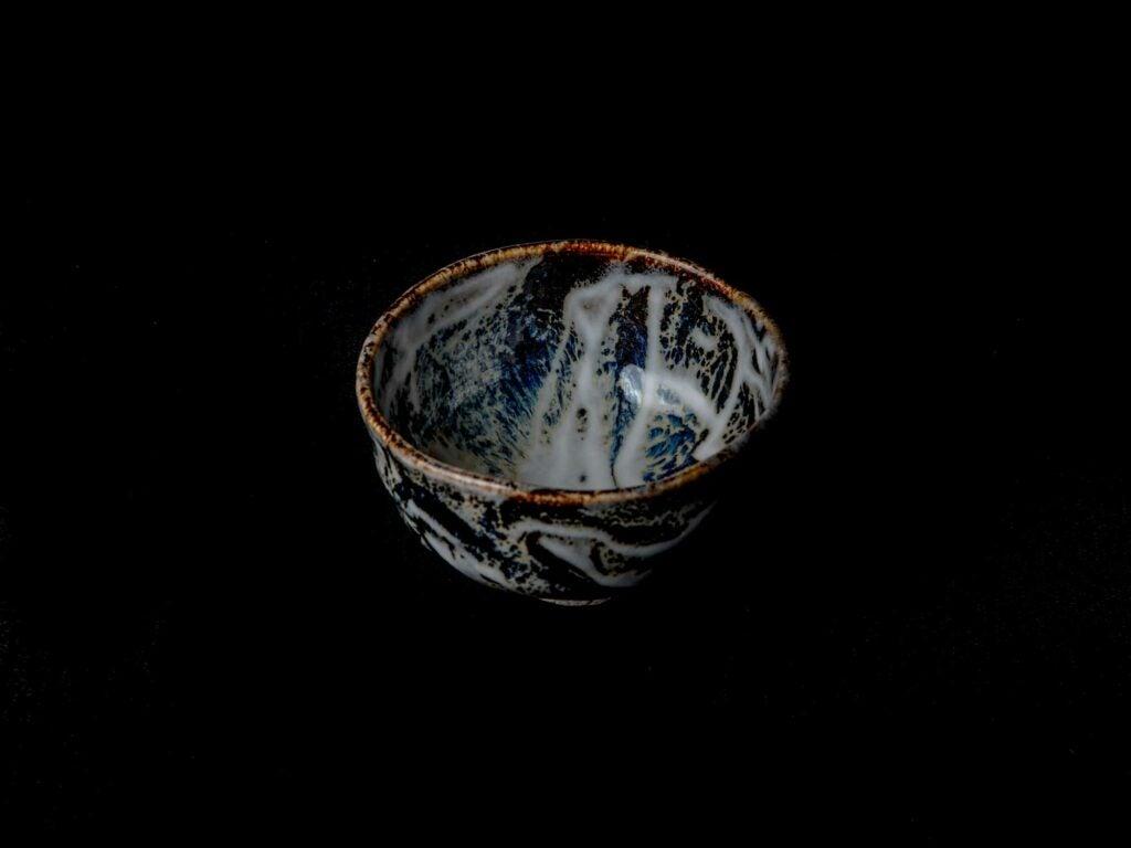 tenmoku-glazed tea bowl