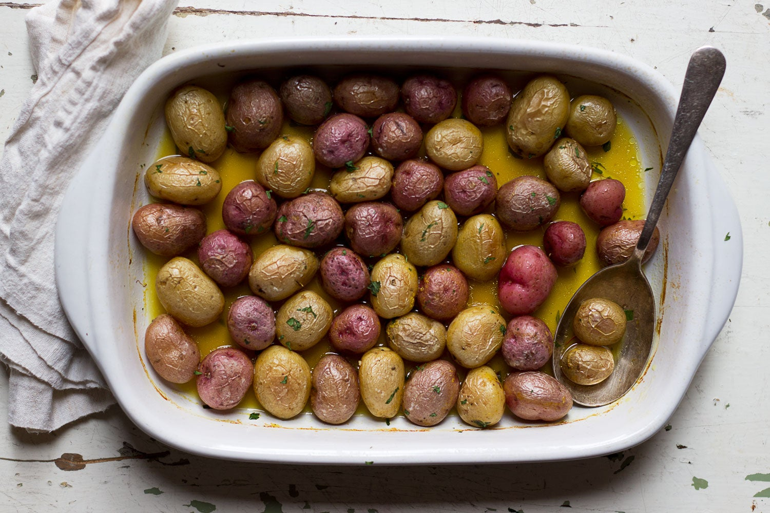 Potatoes Roasted with Saffron