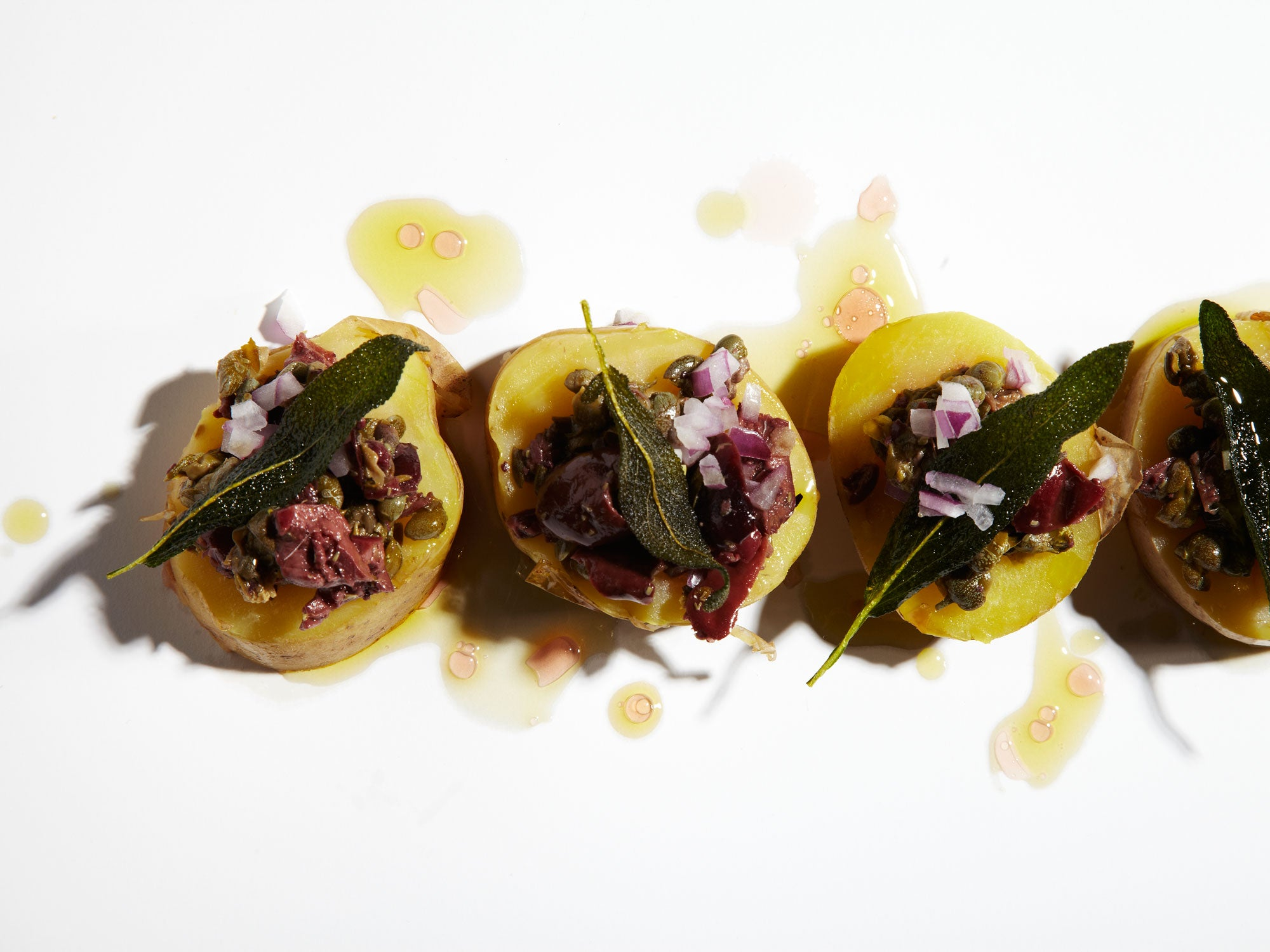 Vinegar-Marinated Potatoes with Olives and Capers | Francis Mallmann