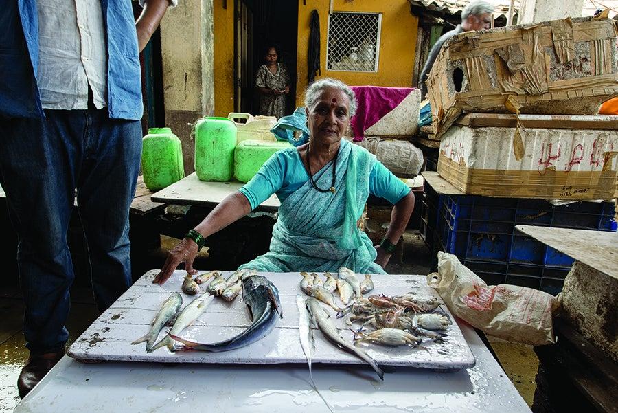 Worli fishing village in Mumbai India