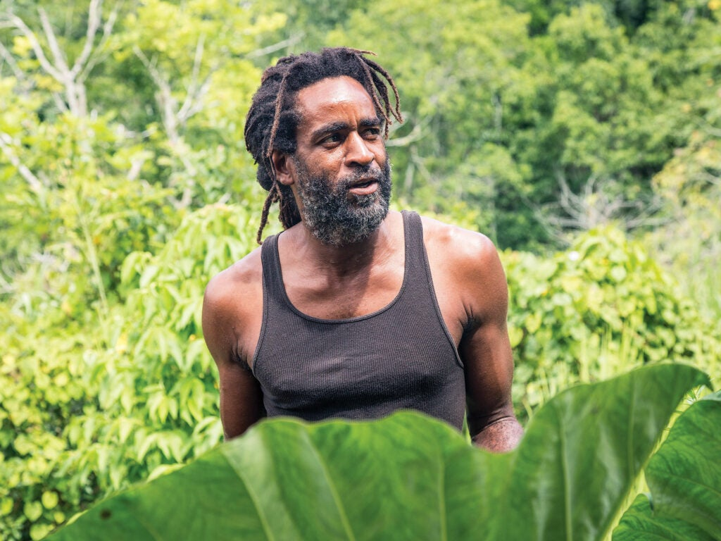 Jamaican farmer Chris Binns