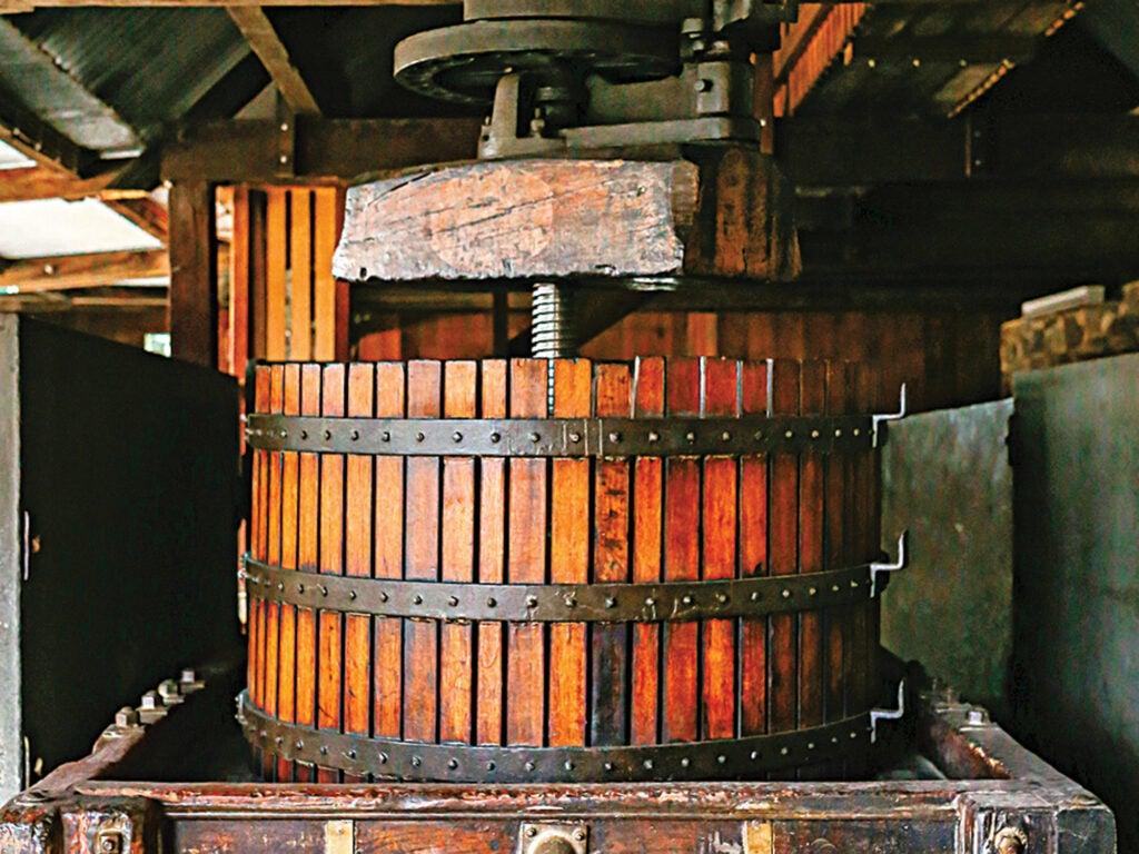 An old basket press at Rockford Wines – Barossa, Australia