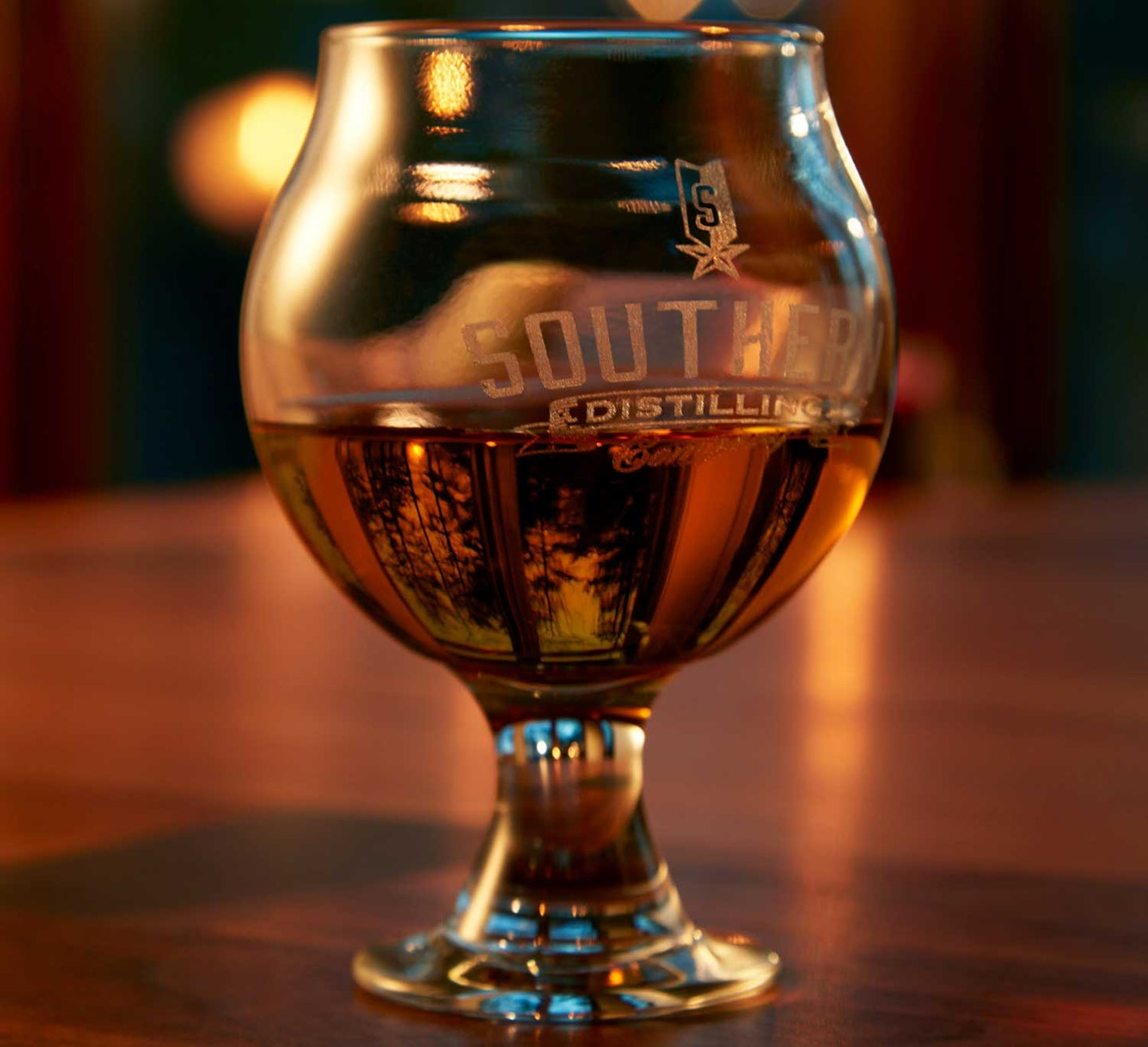 bourbon in a tasting glass