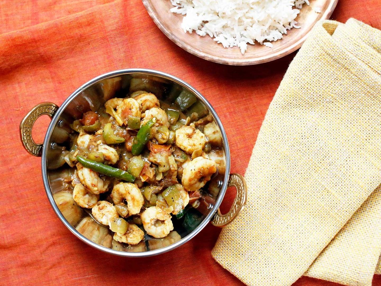 Luffa (Ridge Gourd) Shrimp Curry