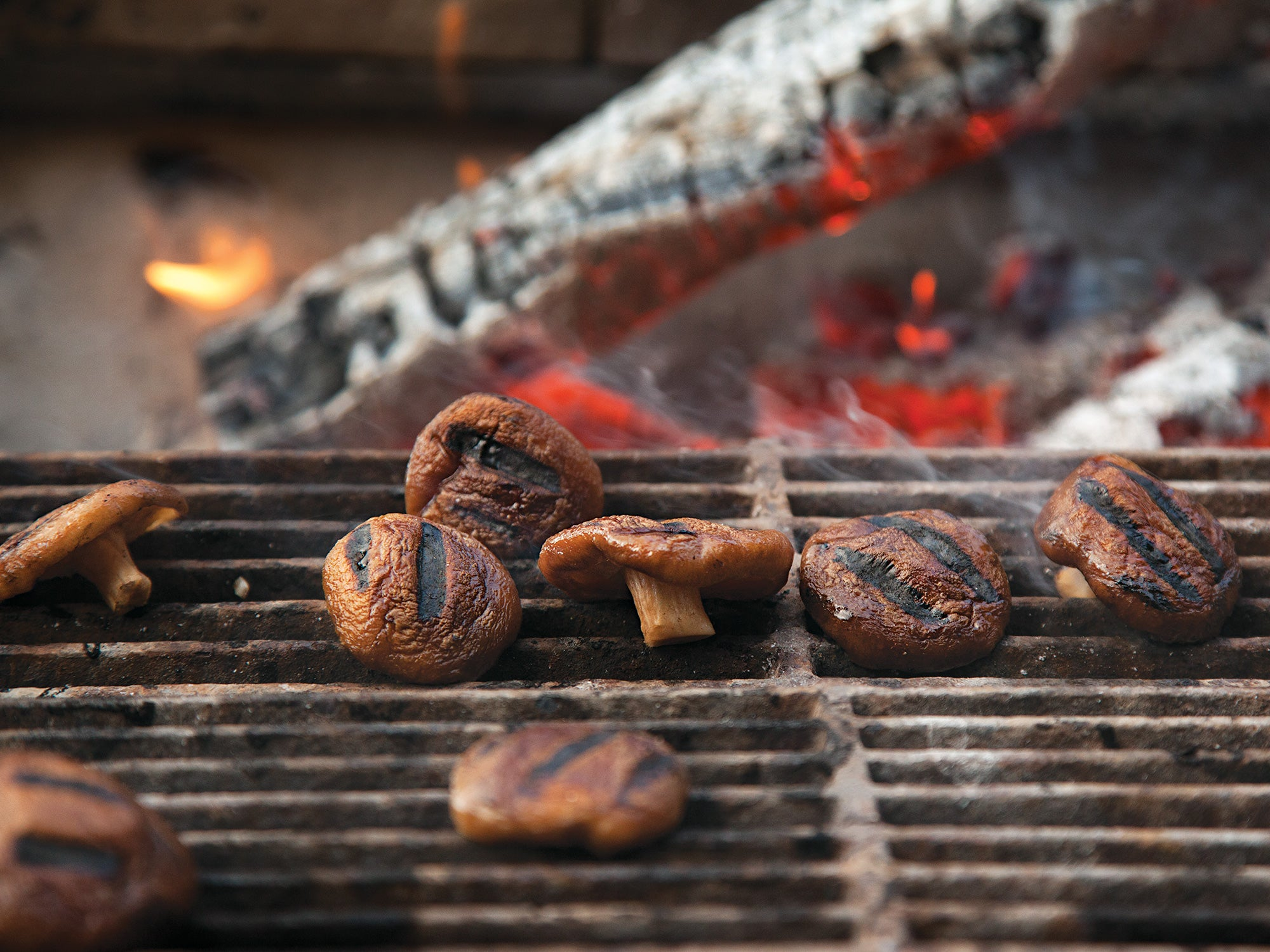 Marinated and Grilled Shiitakes