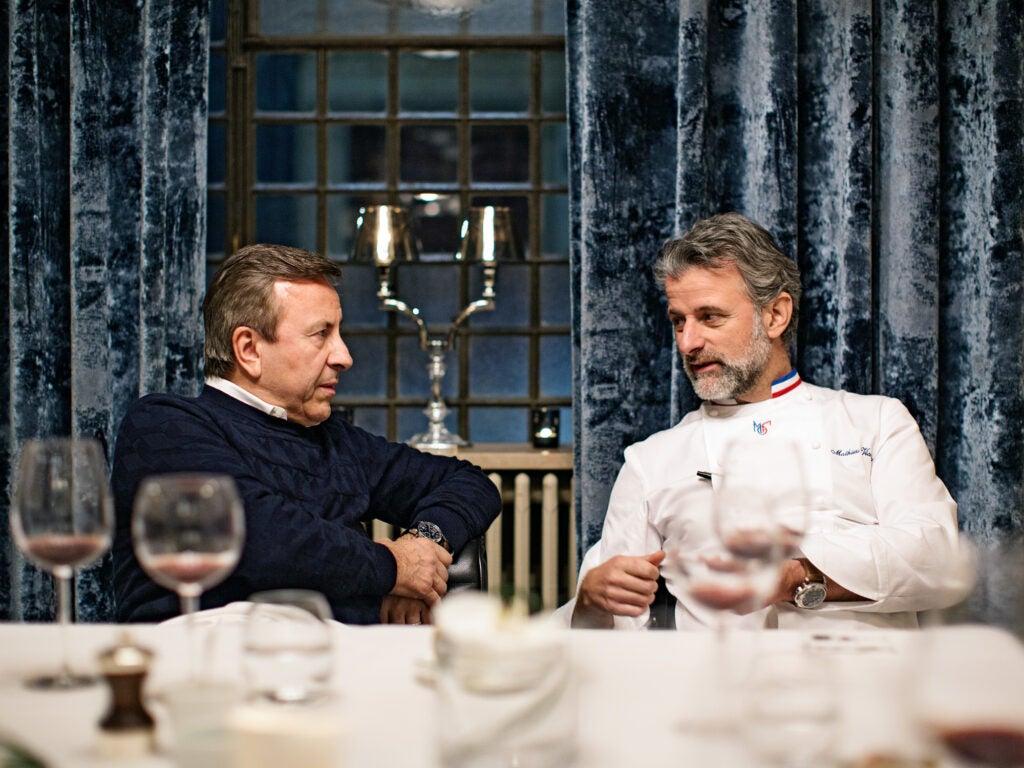 Chefs Daniel Boulud and Mathieu Viannay