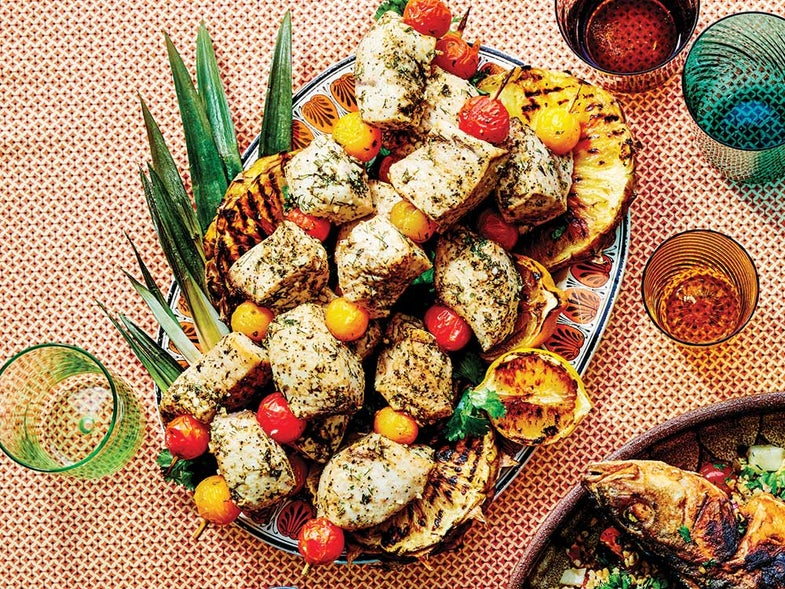 Galilee-Style Grilled Fish Kebabs