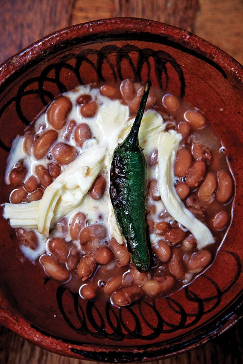 stewed mexican beans