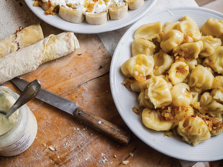 Cheese-and Herb-Stuffed Georgian Dumplings (Khinkali Qvelit)