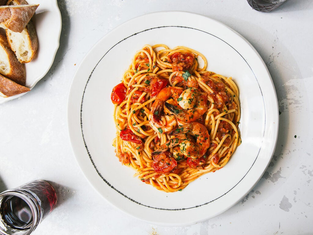 Shrimp in a Spicy Tomato Sauce