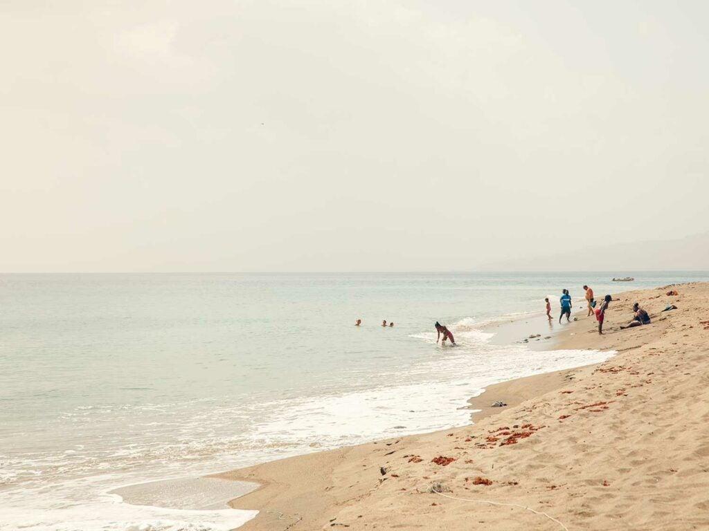 beach outside Saint-Pierre