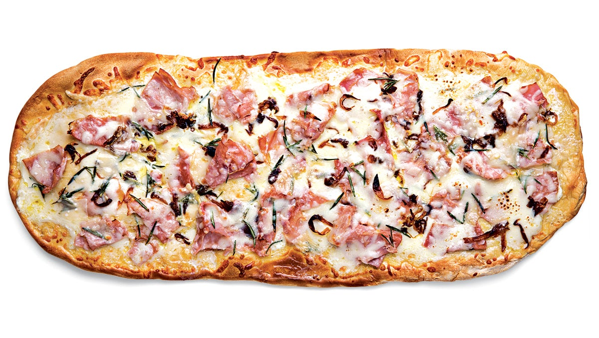 Ham and Caramelized Onion Pizza