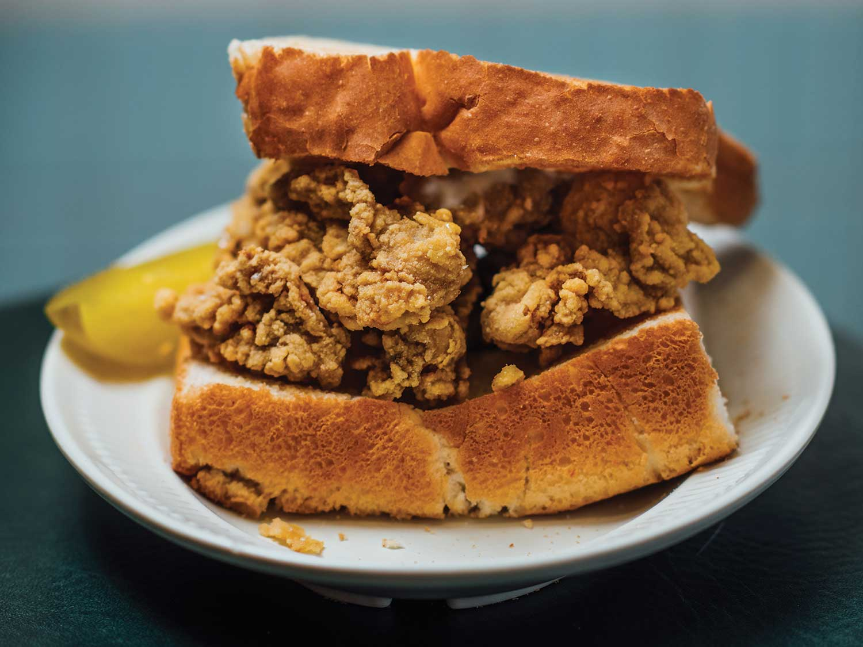 Casamento's Fried Oyster Loaf Sandwich