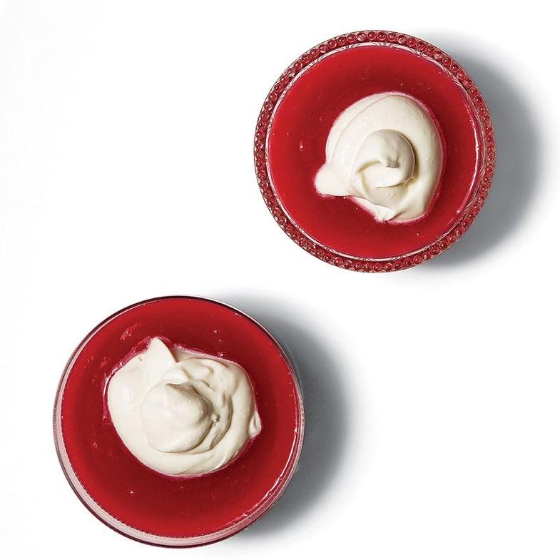 Danish Red Berry Pudding with Cream (Rødgrød med Fløde)