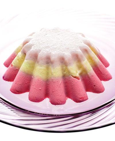 Tricolored Bavarian Cream