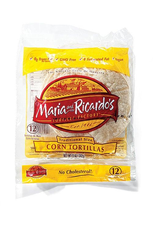 Maria and Ricardo's Traditional Size Corn Tortillas