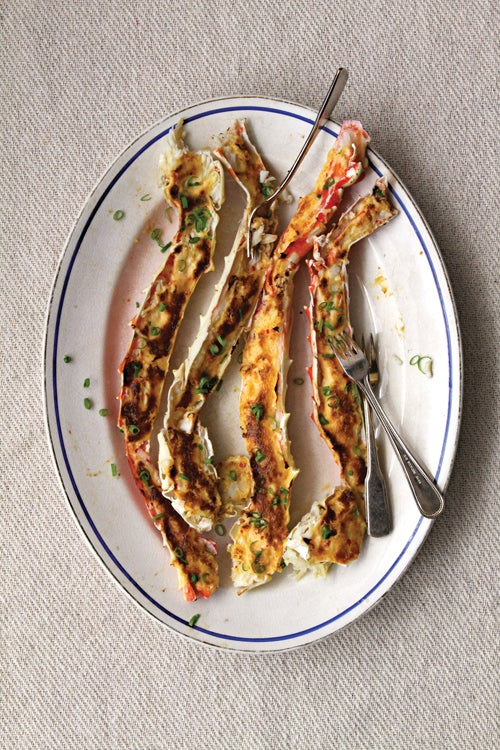 Broiled Crab Legs with Sake