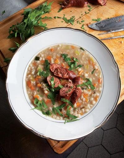 German Barley Soup (Graupensuppe)