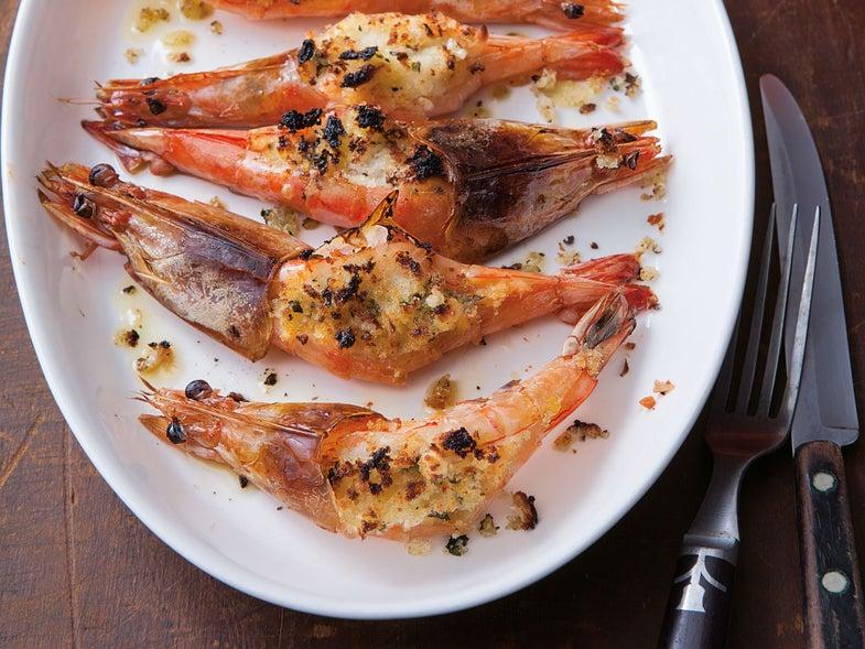 Venetian-Style Gratinéed Shrimp (Gamberoni Grigi al Gratin)