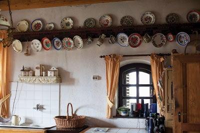 A kitchen at Count Kalnoky's estate in the village of Miklosvar