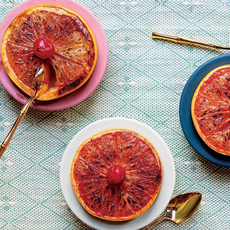 rum-broiled grapefruit