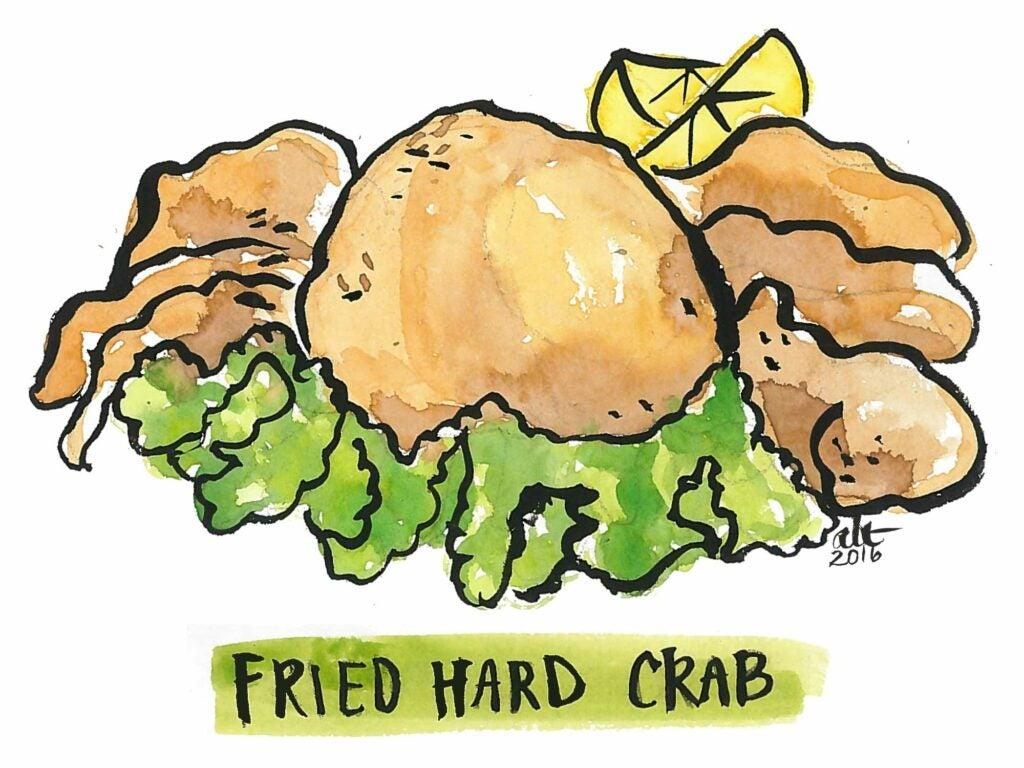Fried Hard Crab