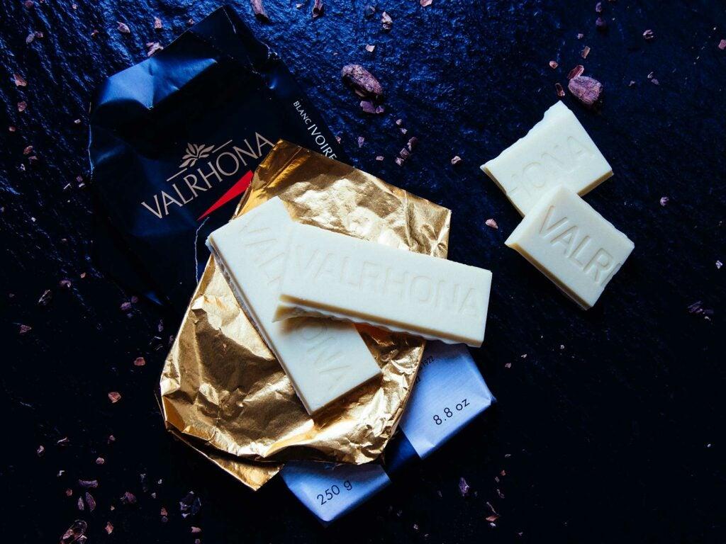 white chocolate valrhona