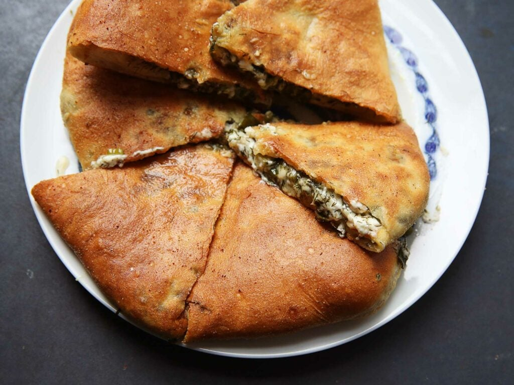 Ossetian Beet Top and Cheese Pie