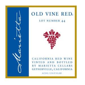 Marietta Cellars, California Old Vines Red Lot # 44