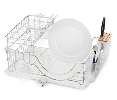 Flip-Top Dish Rack