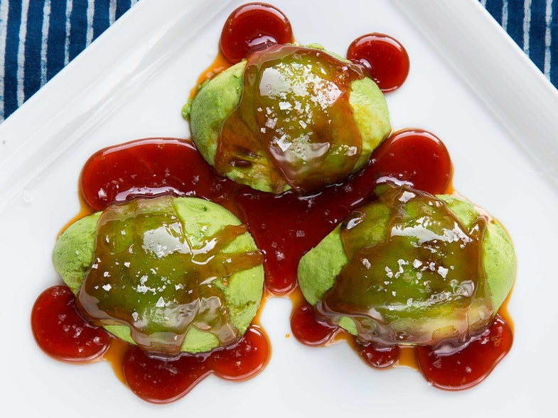 Avocado with Salted Caramel