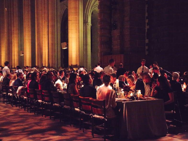 Drinking in Church: A Feast to Honor Artist Vik Muniz