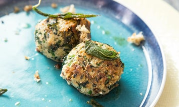 Spinach and Cheese Breadcrumb Dumplings (Strangolapreti)
