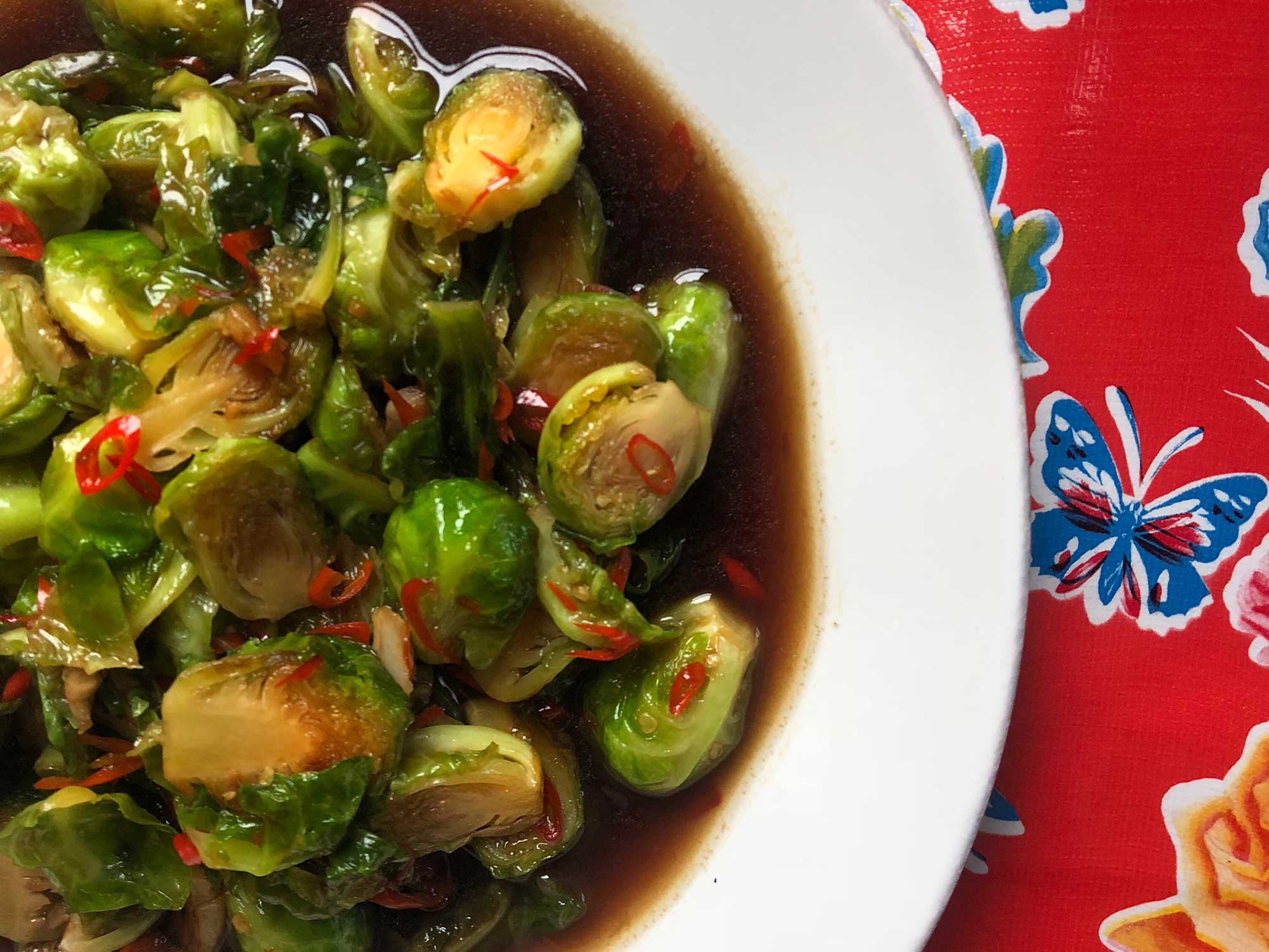 Thai Stir-Fried Brussels Sprouts
