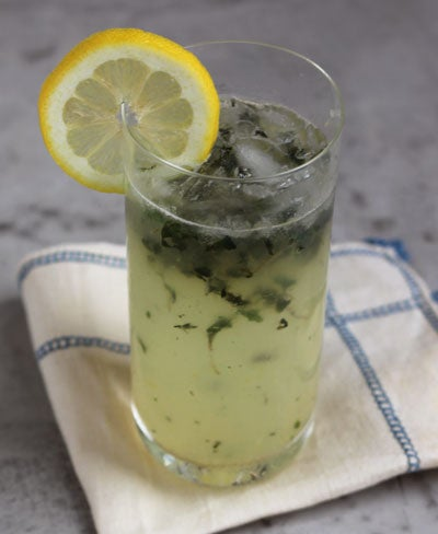 Lemon Basil Blossom Cocktail