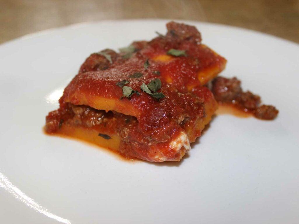 Butternut Bison Lasagna